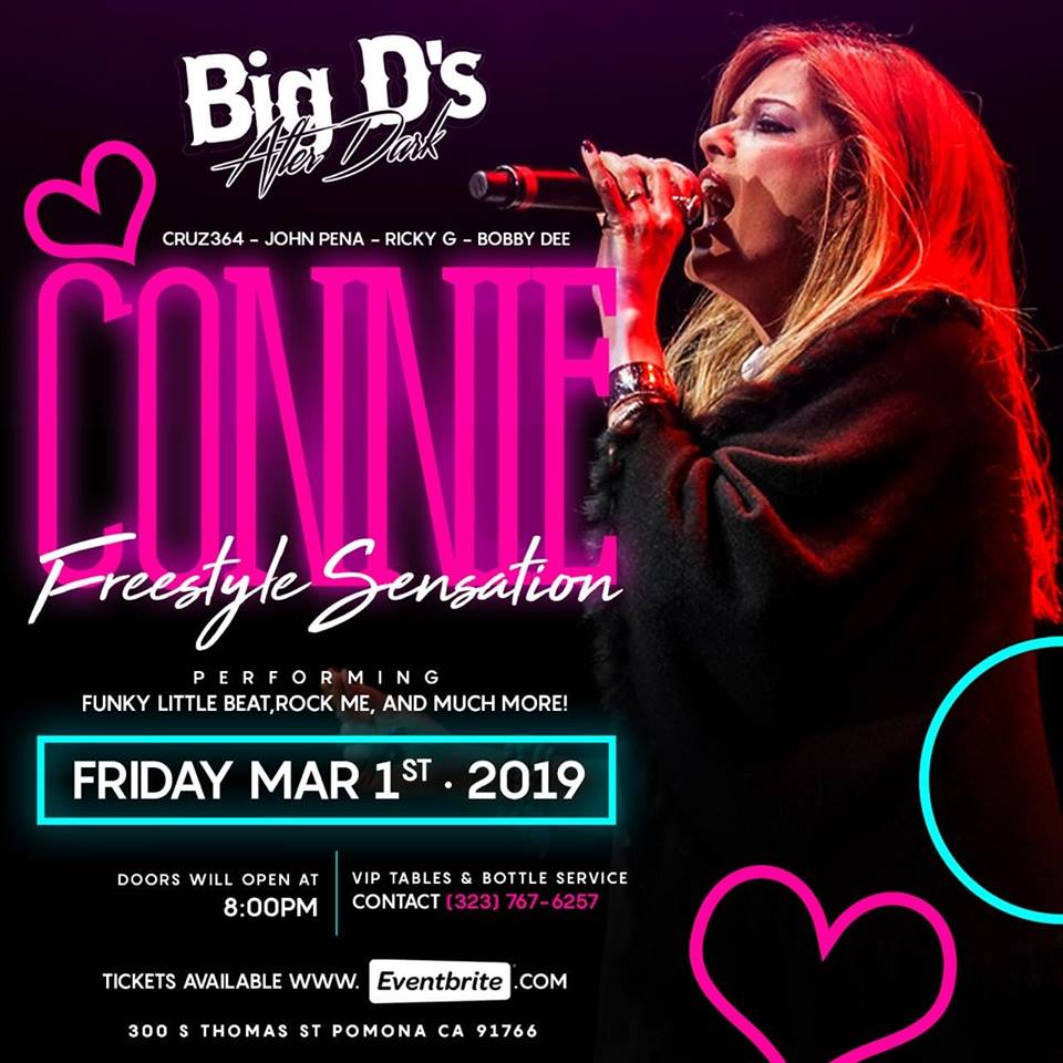 Connie Performing Live This Friday at Big D's After Dark – Pomona California